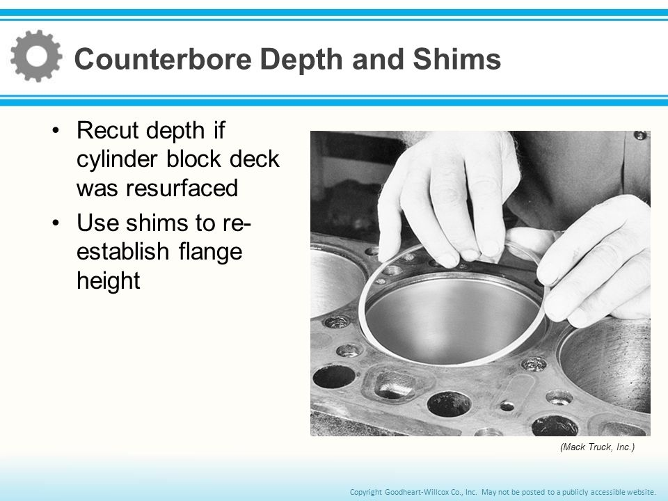 Counterbore Depth and Shims