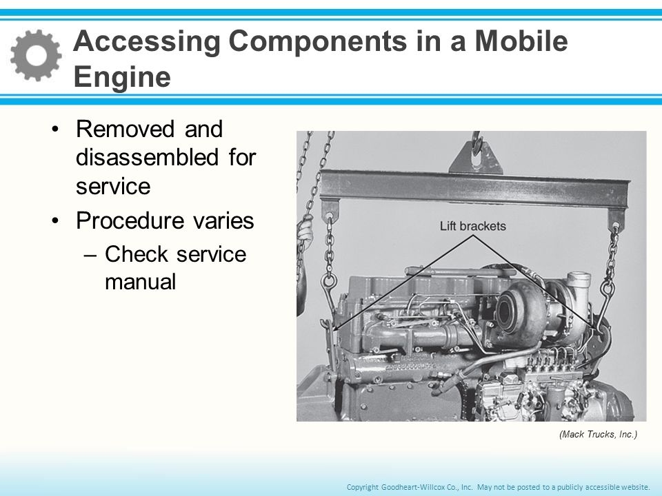 Accessing Components in a Mobile Engine