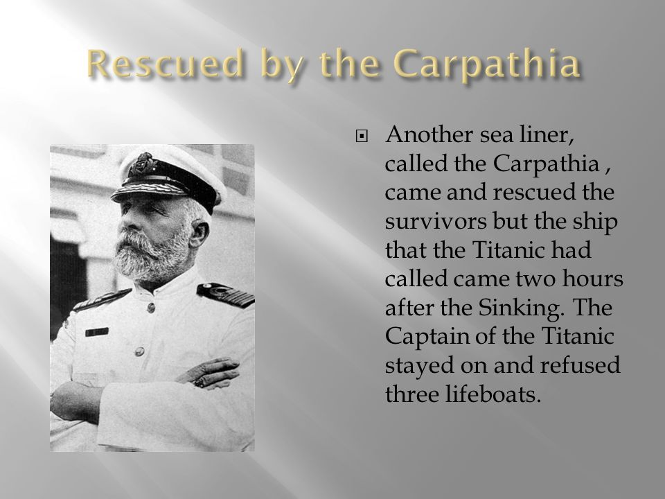Rescued by the Carpathia