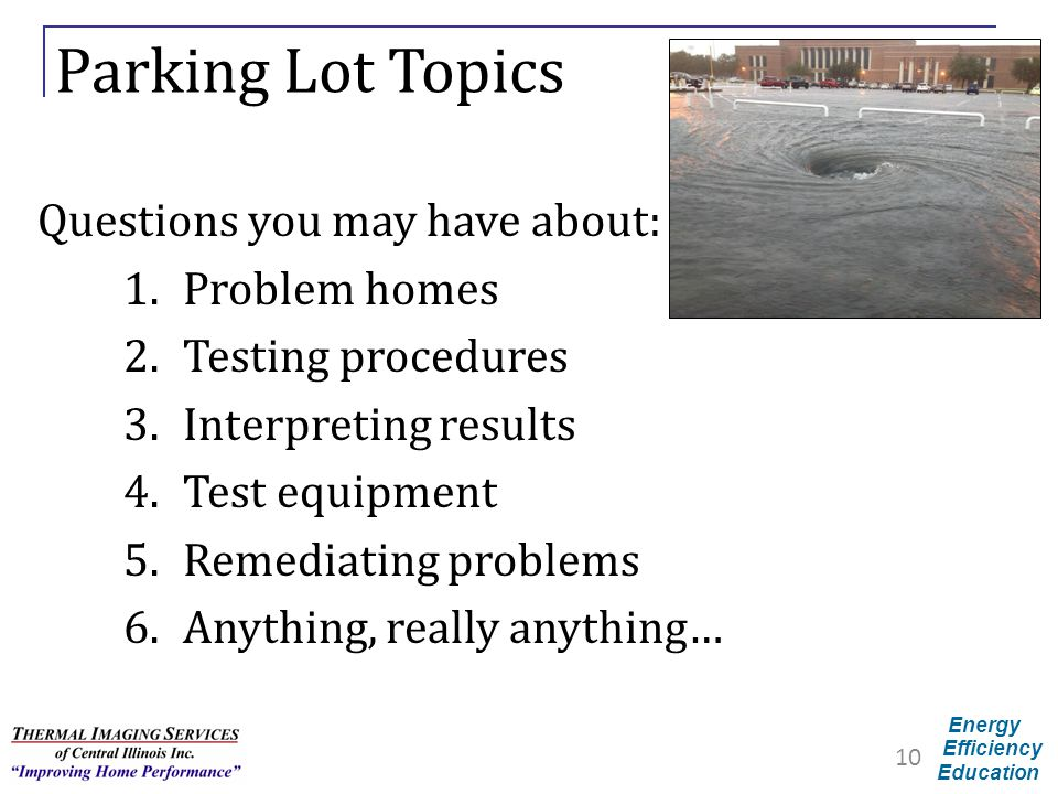 Parking Lot Topics Questions you may have about: Problem homes