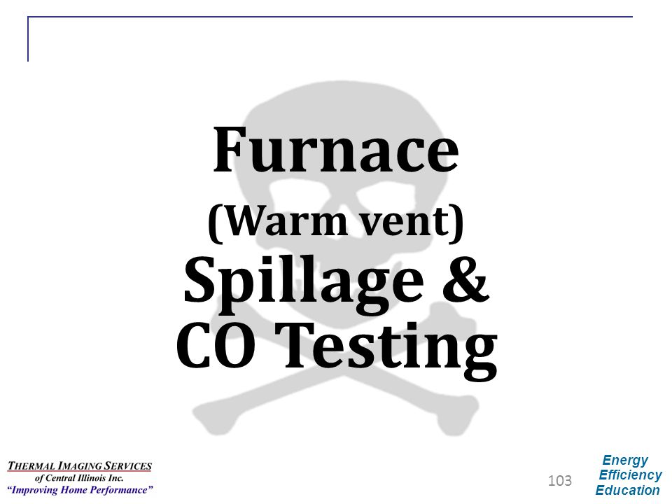 Furnace (Warm vent) Spillage & CO Testing