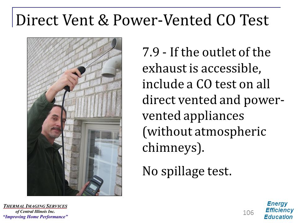 Direct Vent & Power-Vented CO Test