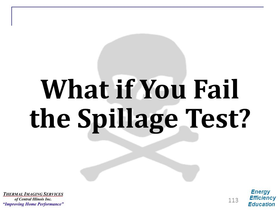 What if You Fail the Spillage Test