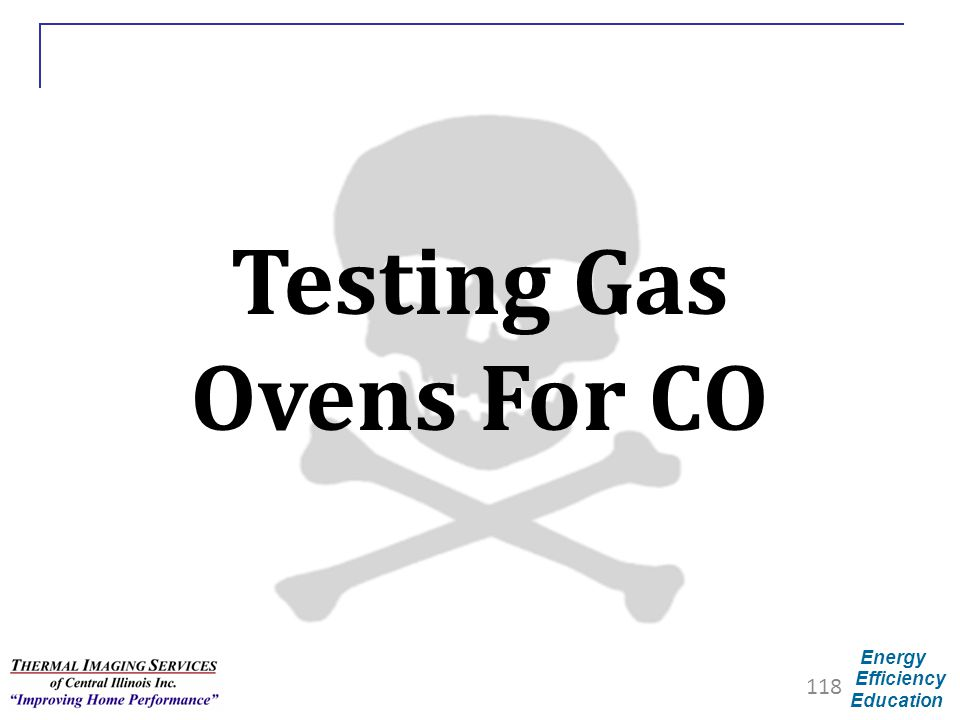 Testing Gas Ovens For CO