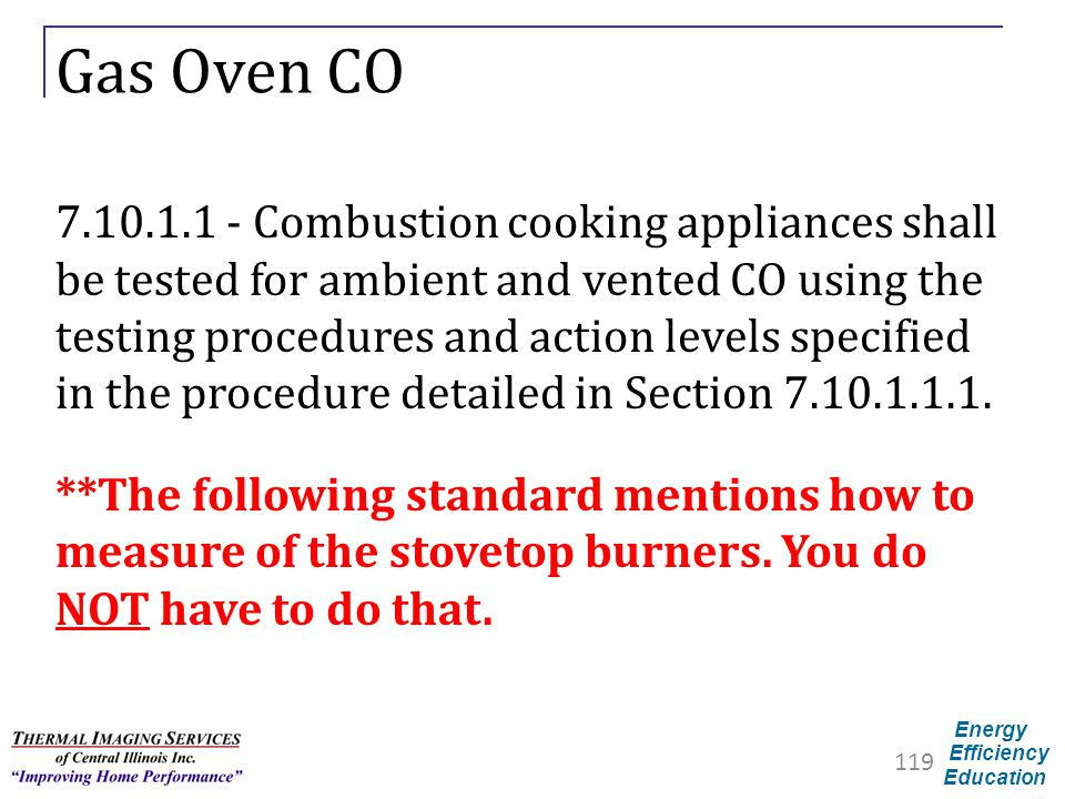 Gas Oven CO