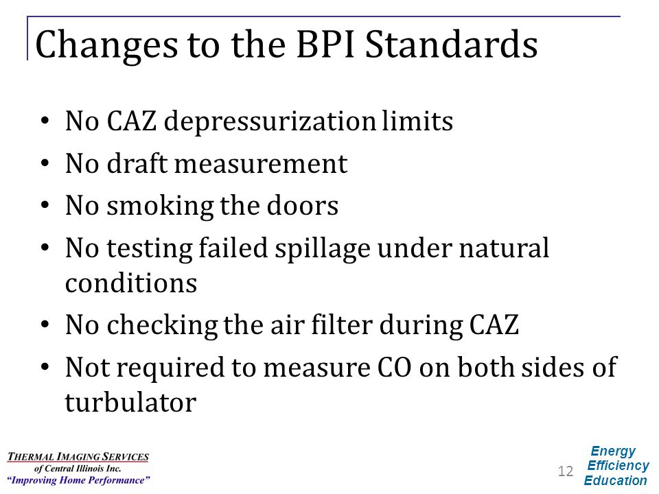Changes to the BPI Standards