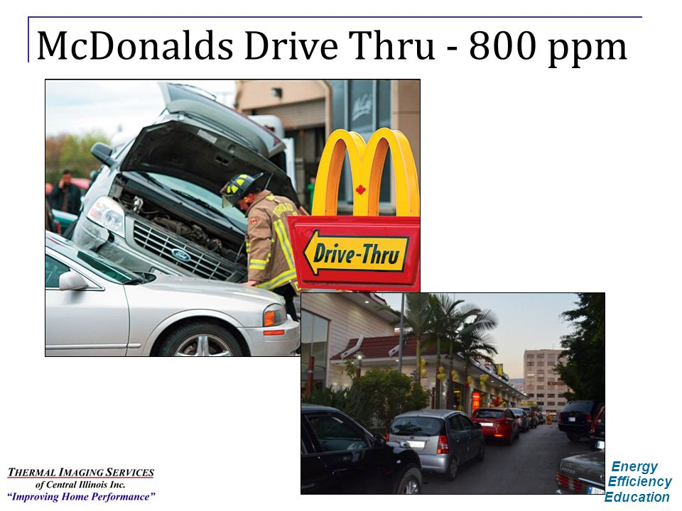 McDonalds Drive Thru - 800 ppm