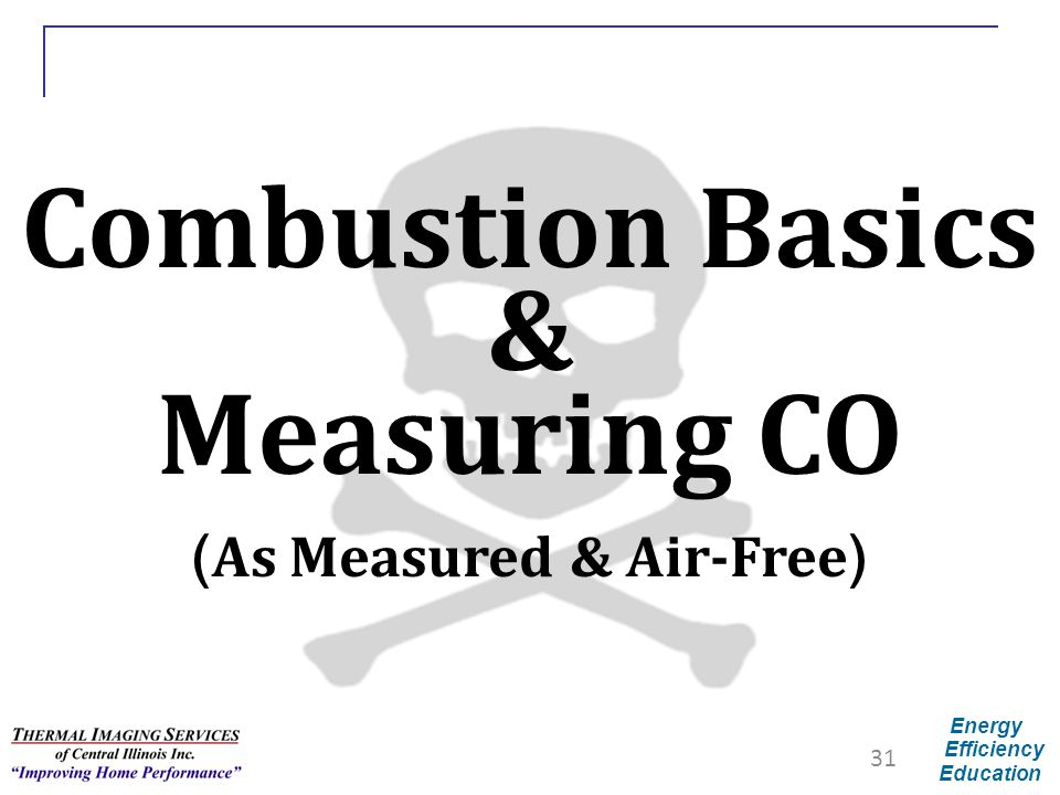 Combustion Basics & Measuring CO (As Measured & Air-Free)