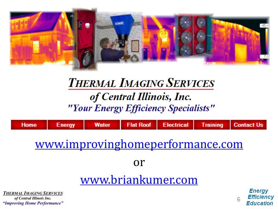 www.improvinghomeperformance.com or www.briankumer.com