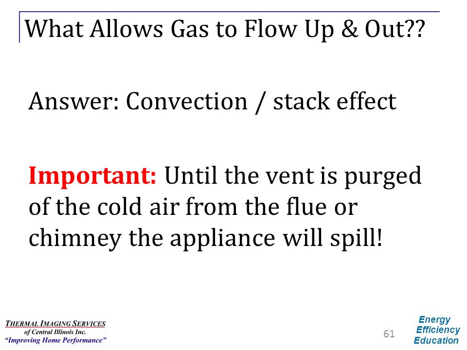 What Allows Gas to Flow Up & Out