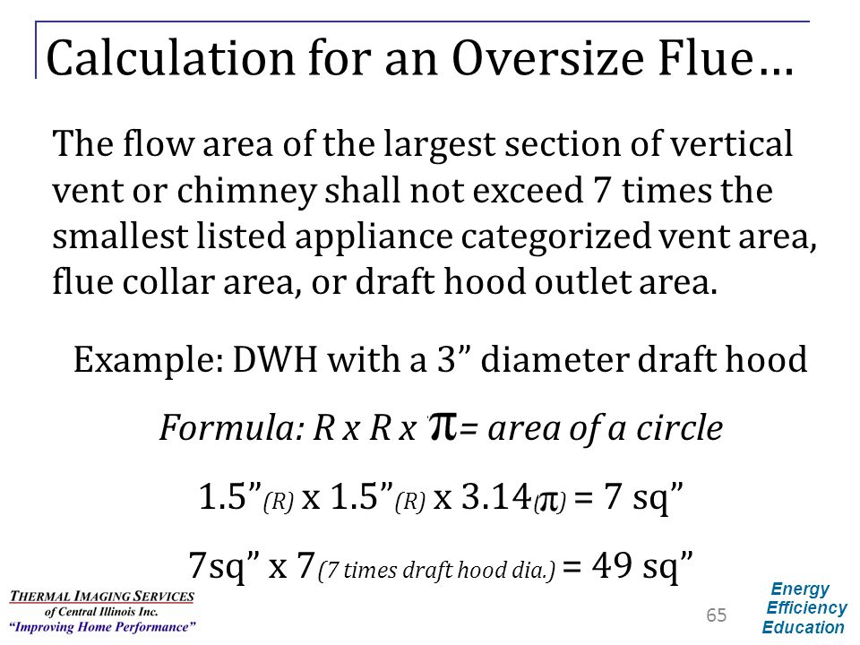 Calculation for an Oversize Flue…
