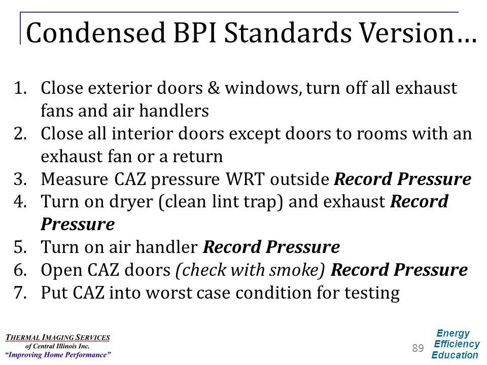 Condensed BPI Standards Version…