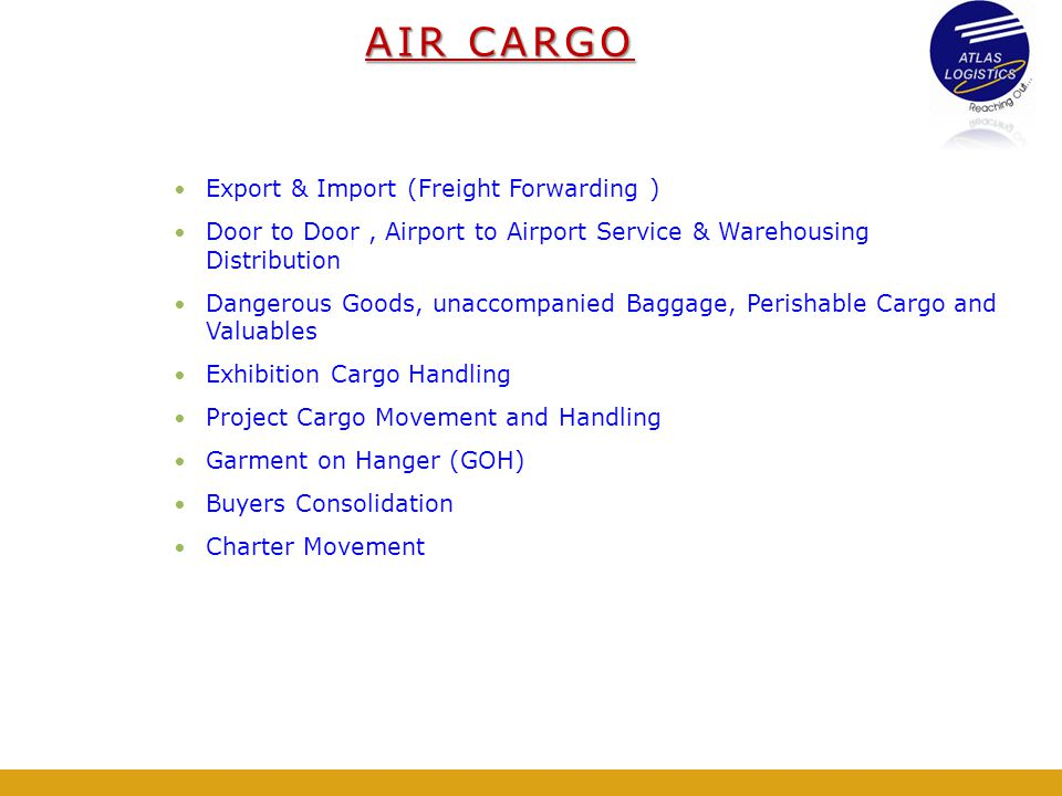 AIR CARGO Export & Import (Freight Forwarding )