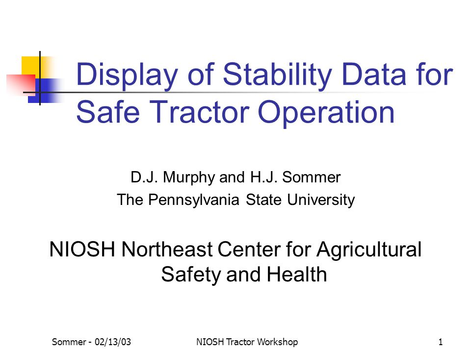Display of Stability Data for Safe Tractor Operation