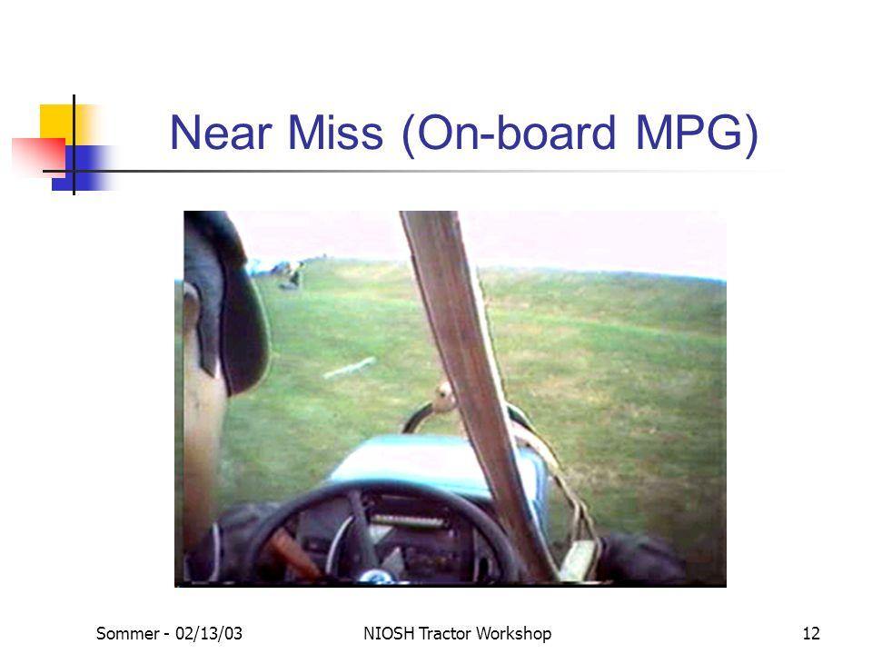 Near Miss (On-board MPG)