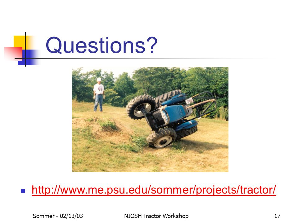 NIOSH Tractor Workshop