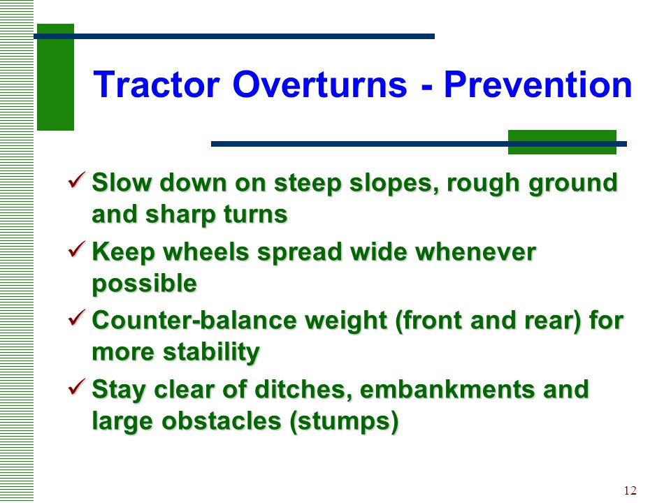Tractor Overturns - Prevention