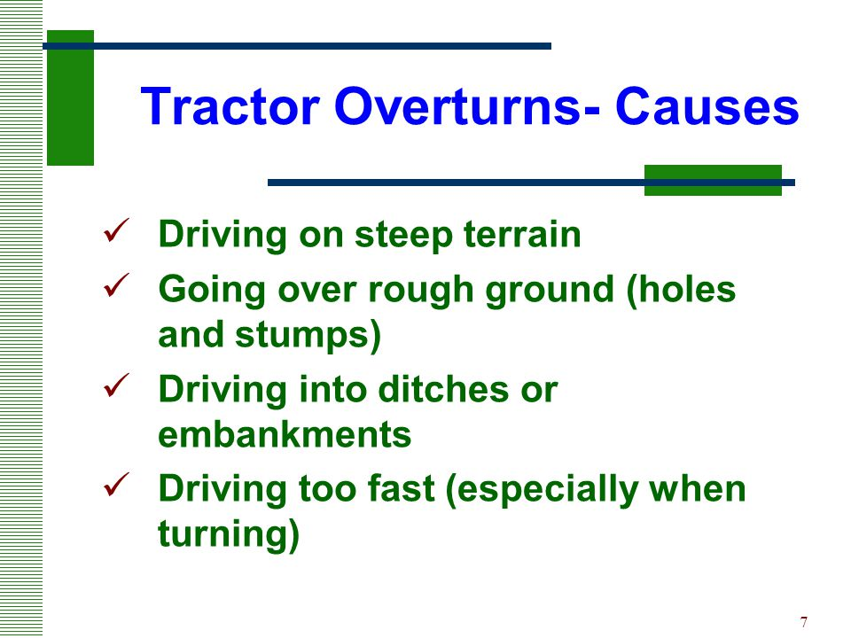 Tractor Overturns- Causes