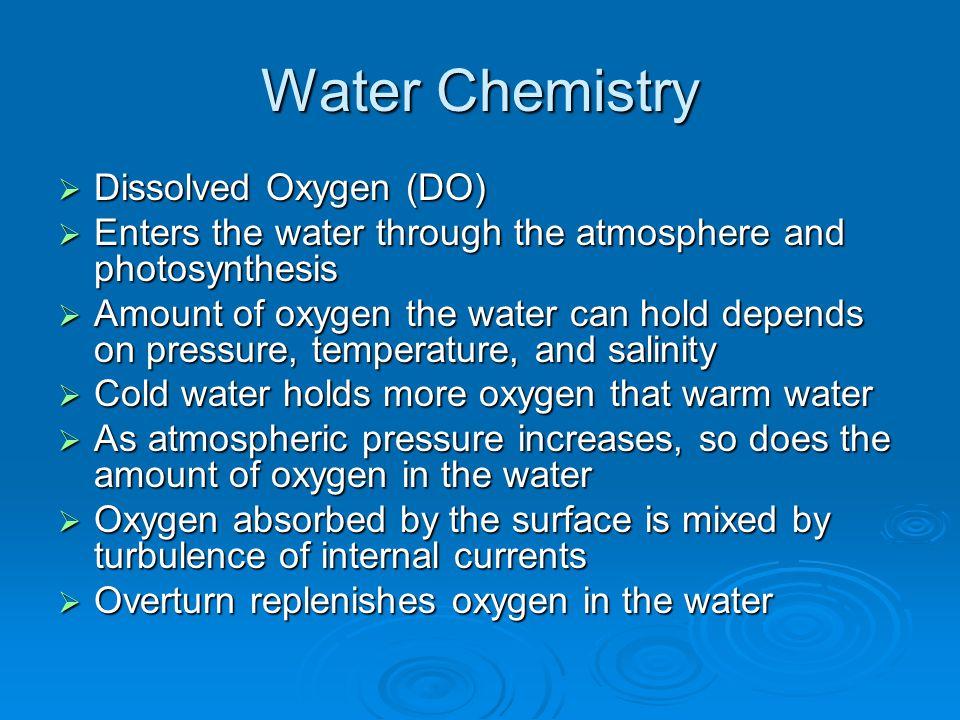 Water Chemistry Dissolved Oxygen (DO)