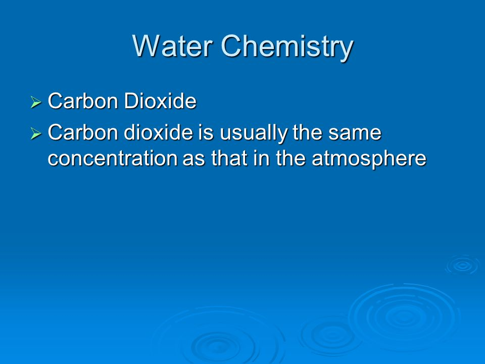 Water Chemistry Carbon Dioxide