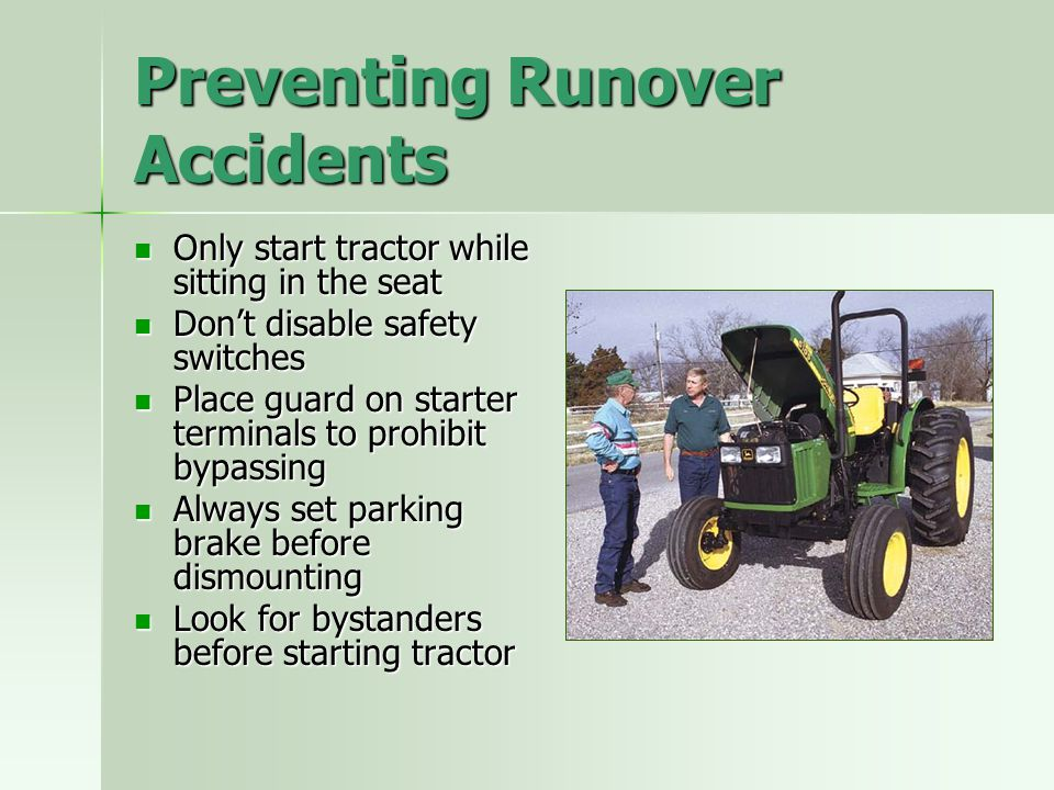 Preventing Runover Accidents