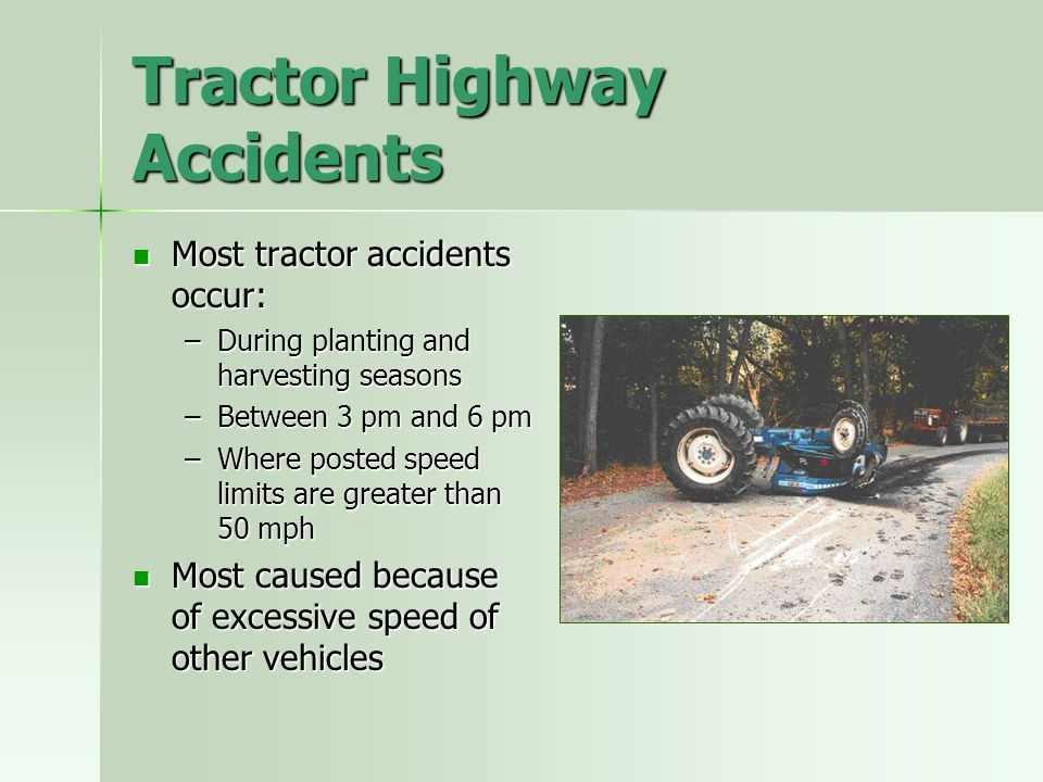 Tractor Highway Accidents