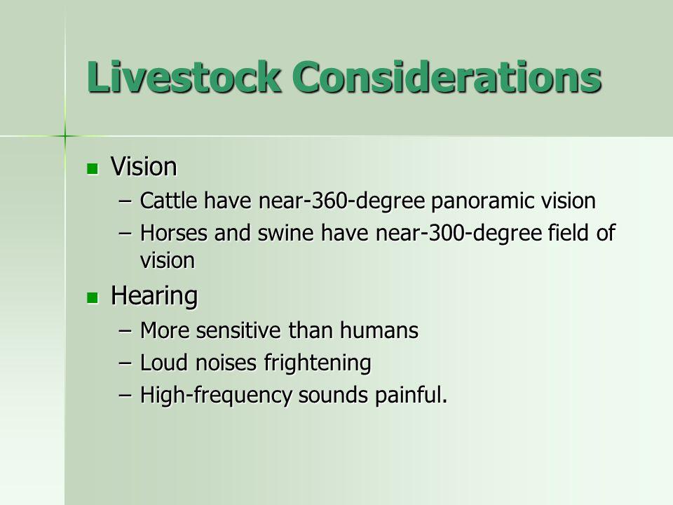 Livestock Considerations