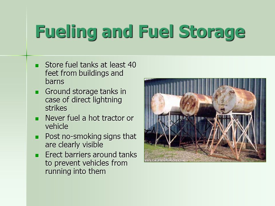 Fueling and Fuel Storage