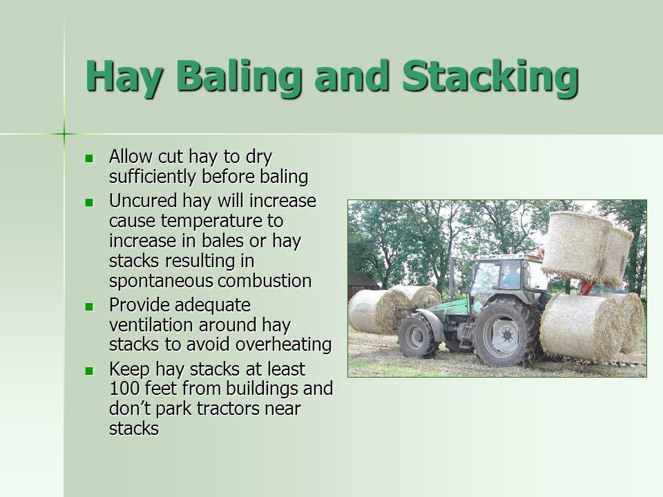 Hay Baling and Stacking