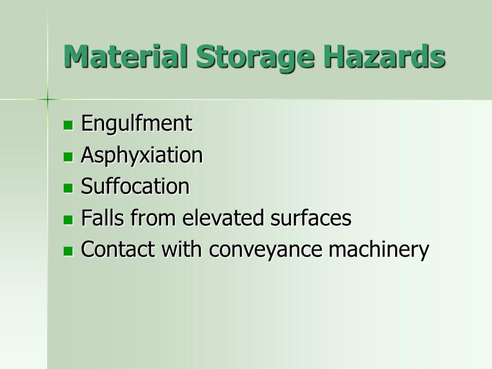 Material Storage Hazards
