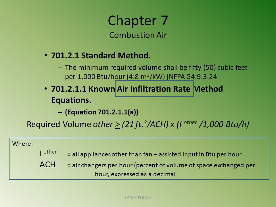 Chapter 7 Combustion Air