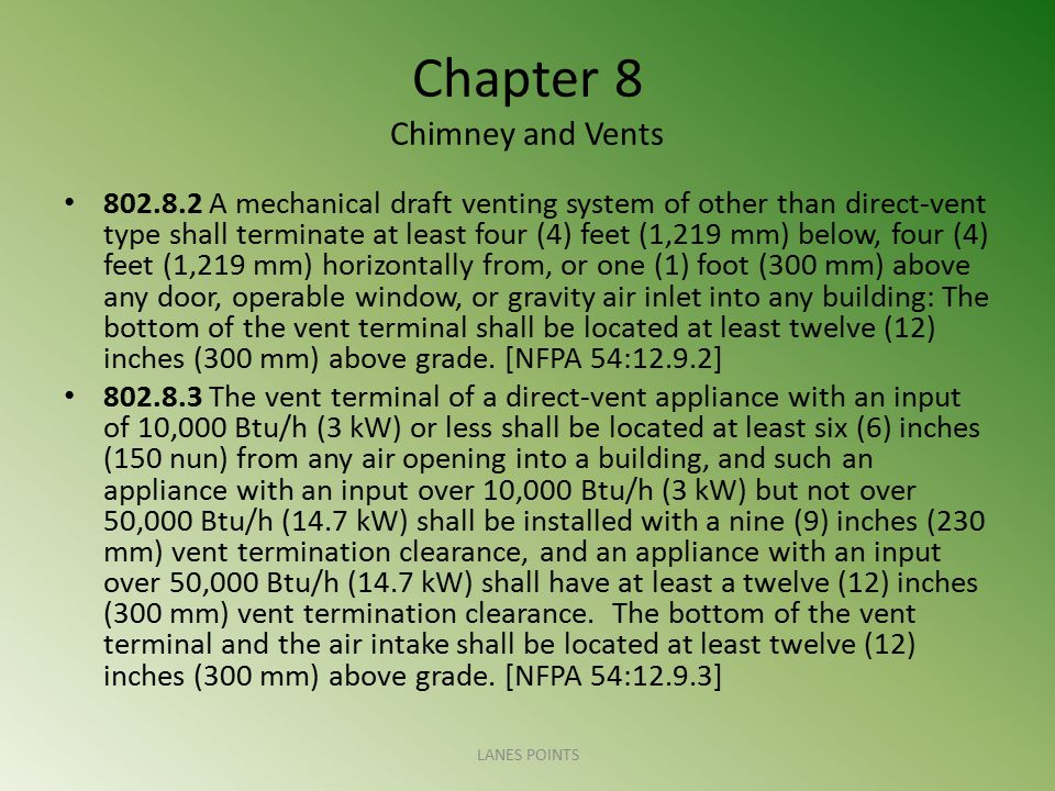 Chapter 8 Chimney and Vents