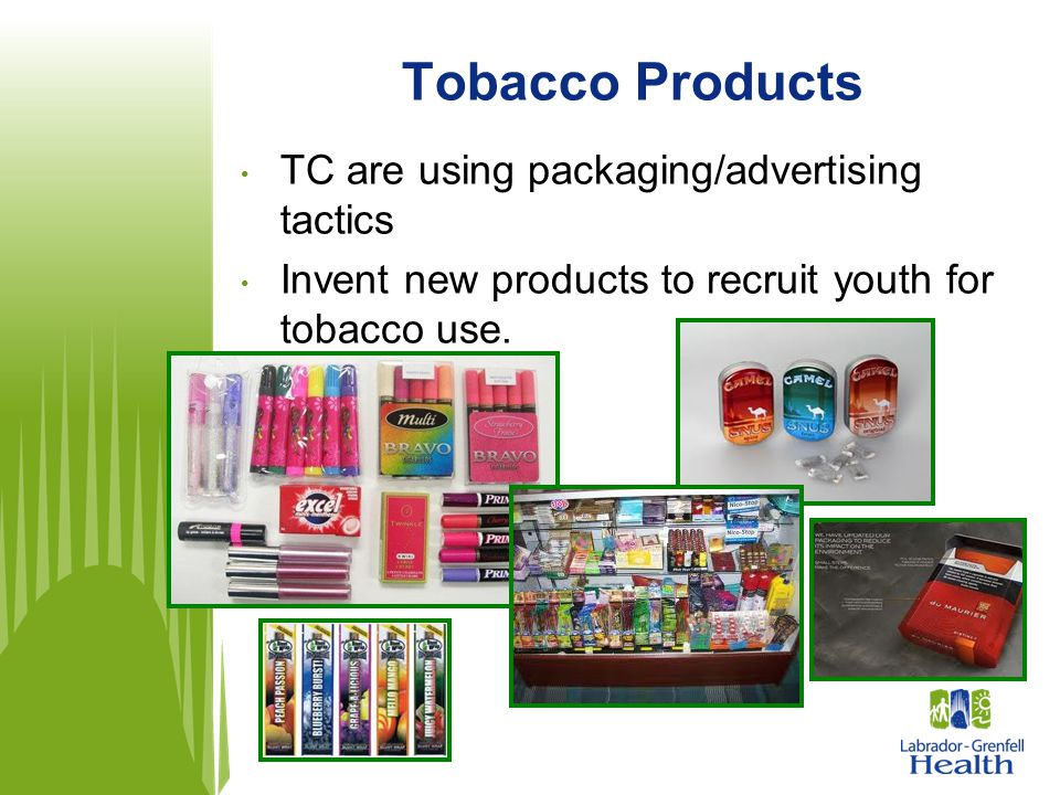 Tobacco Products TC are using packaging/advertising tactics