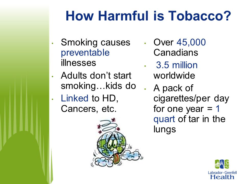 How Harmful is Tobacco Smoking causes preventable illnesses