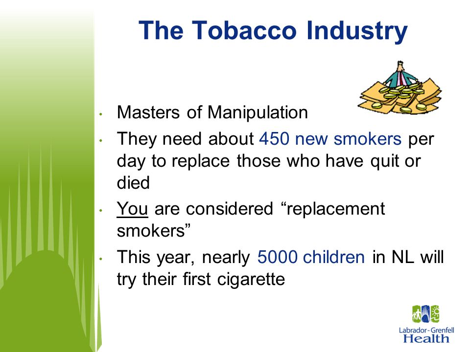 The Tobacco Industry Masters of Manipulation