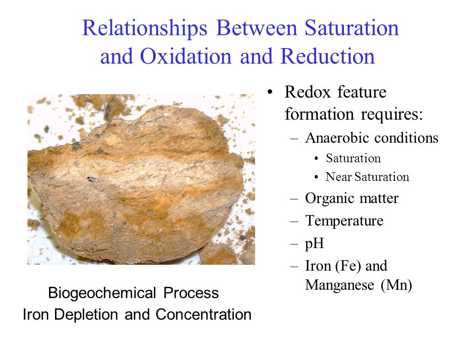 Relationships Between Saturation and Oxidation and Reduction