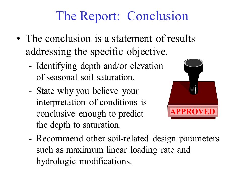 The Report: Conclusion
