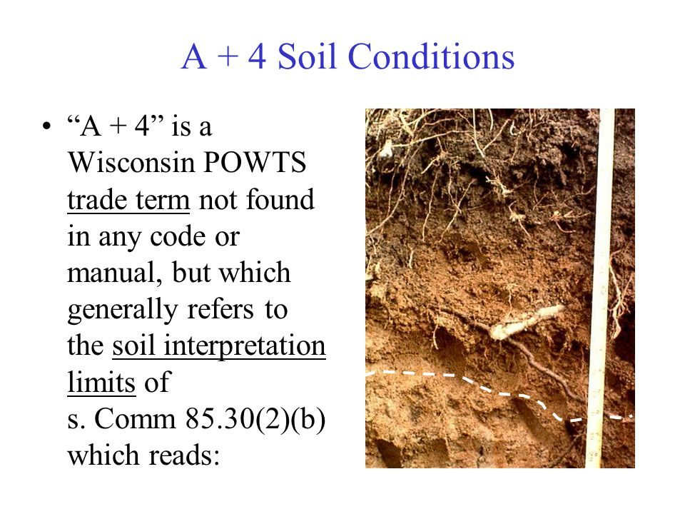 A + 4 Soil Conditions