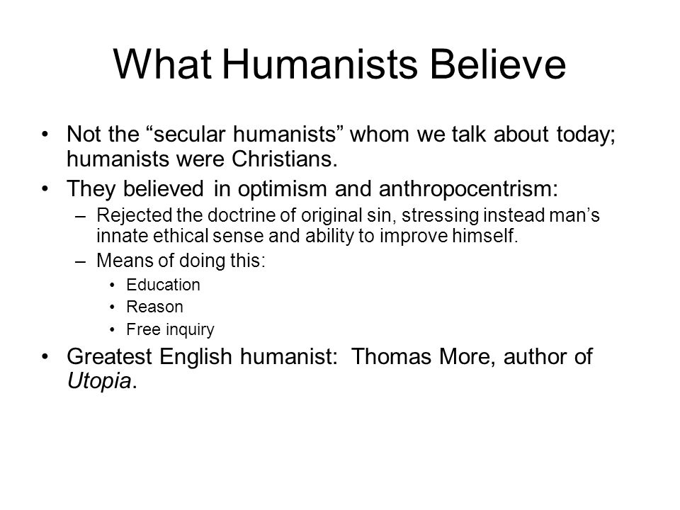 What Humanists Believe