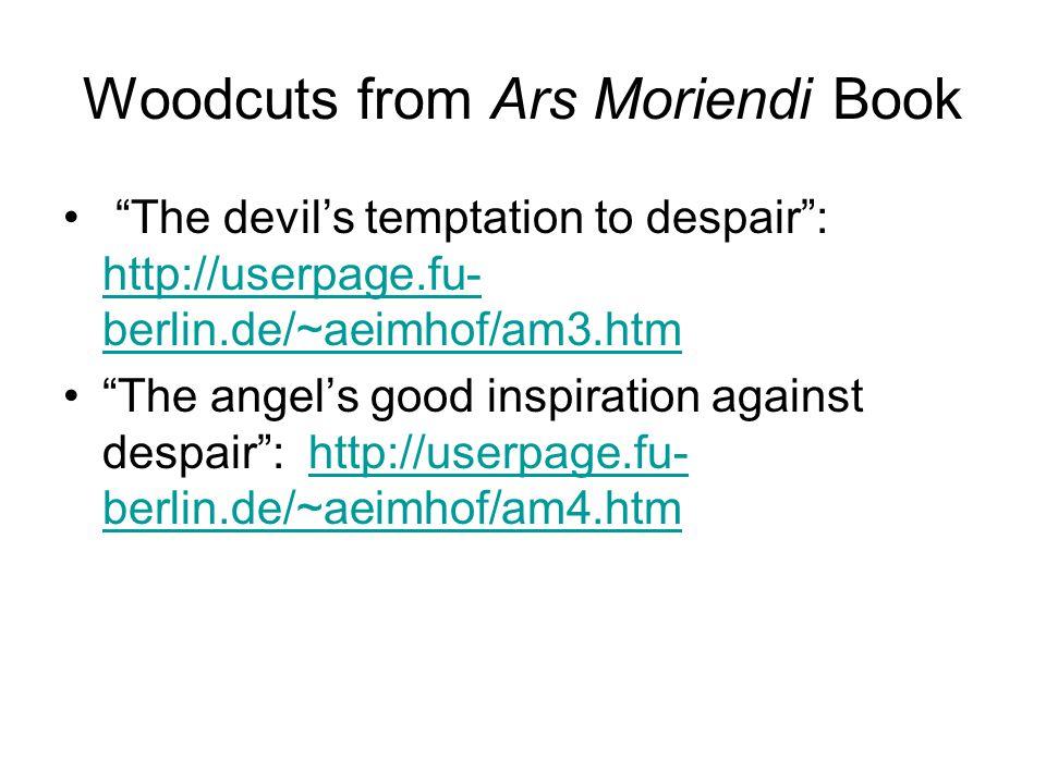 Woodcuts from Ars Moriendi Book