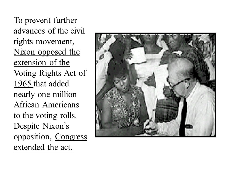 richard nixon and civil rights movement A white house press release detailing the nixon adminstration's policies on the subject of desegregation of america's elementary and secondary schools prior to president nixon's first term.