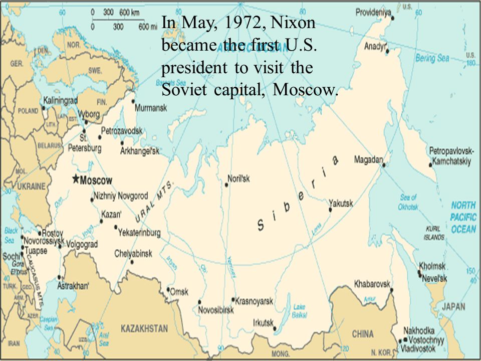 In May, 1972, Nixon became the first U. S