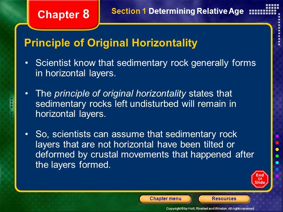 Principle of Original Horizontality