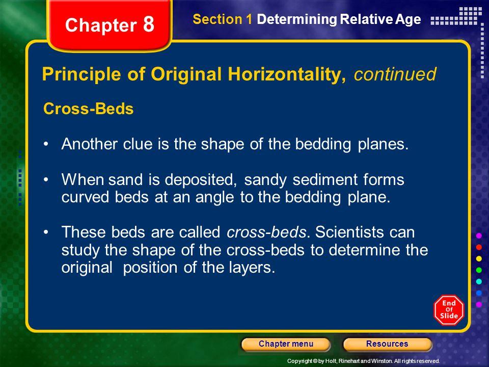 Principle of Original Horizontality, continued