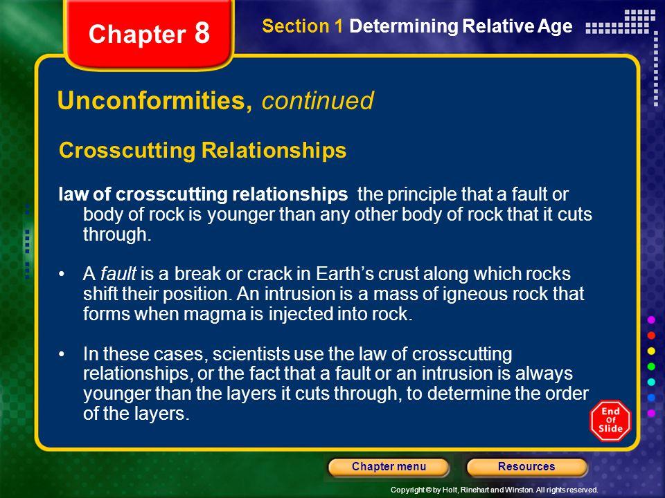 Unconformities, continued