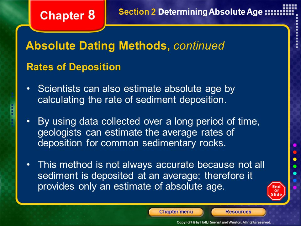 How to calculate absolute dating