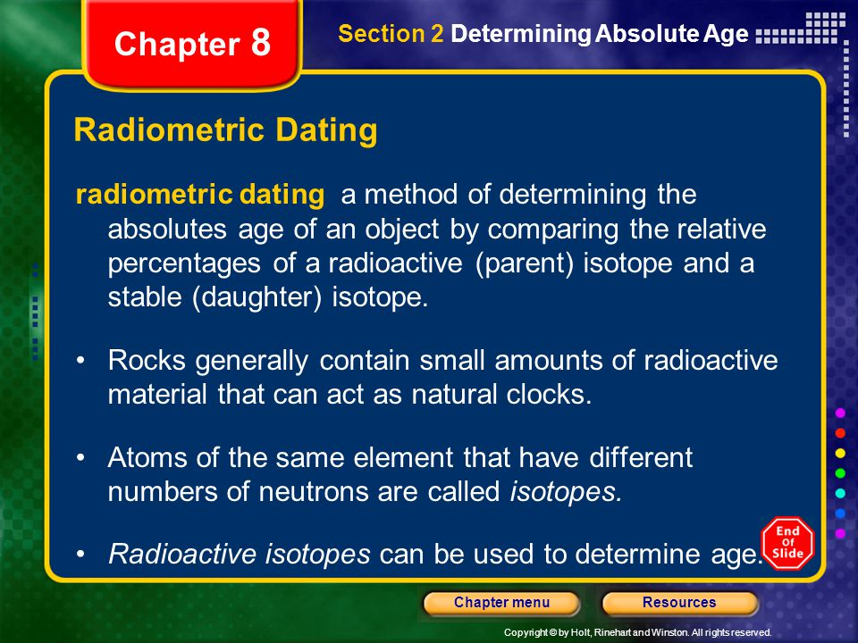 Chapter 8 Radiometric Dating