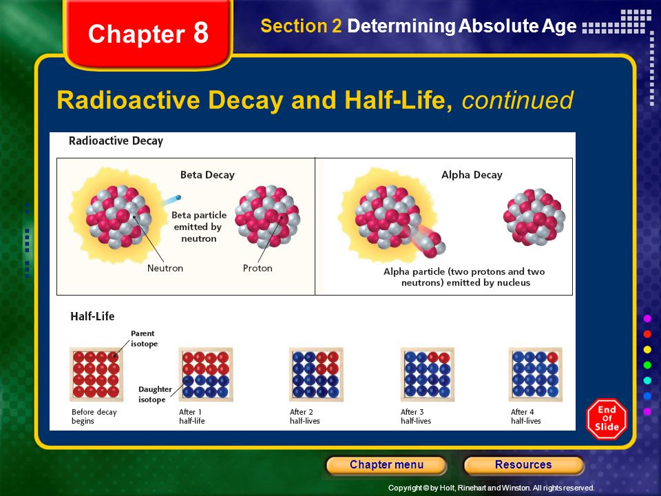 Radioactive Decay and Half-Life, continued