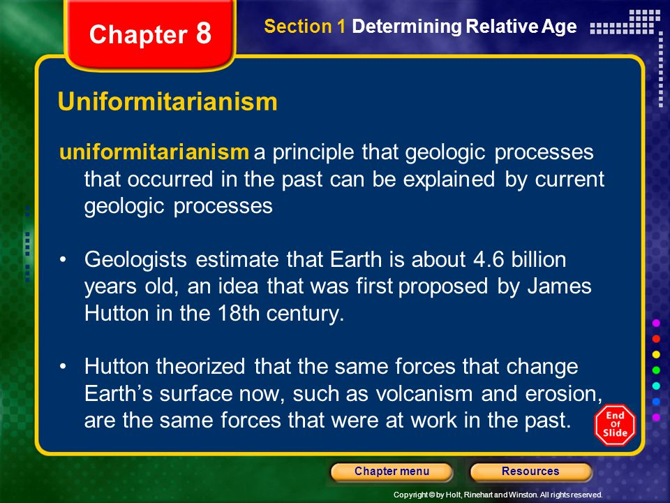 Chapter 8 Uniformitarianism