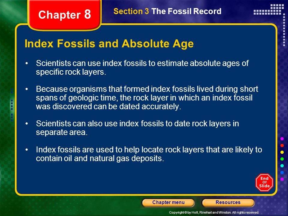 Index Fossils and Absolute Age